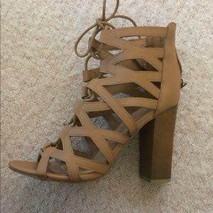 Bamboo heeled sandals